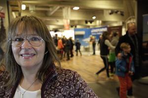 Kristina Kristoffersson är projektledare på Destination Vemdalen. Hon uppskattar antalet besökare till 8000 under mässan.