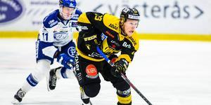 Kalle Östman gjorde succé under sin säsong i VIK. På 53 matcher blev det 46 poäng. Foto:Tobias Sterner / BILDBYRÅN