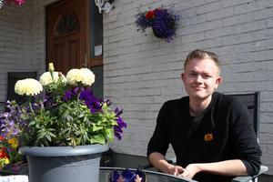David Löfgren ser ett stort problem i Ånge. Människor vill inte arbeta och det är något som han vill förändra.
