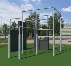 Så här kommer delar av den planerade parken att se ut när den till slut står färdig.