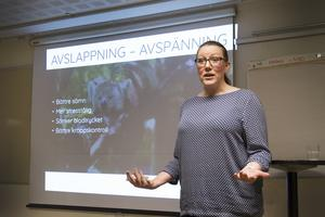 På fredagen höll Cattis Olsson föreläsningen Våga nå toppen, på Harsagården. Där hon berättade om hur man flyttar gränserna som finns endast i det egna huvudet.