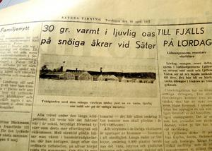 Som mest fanns 18 stora växthus vid Jacobssons handelsträdgård. Urklippet kommer från Säters Tidning den 10 april 1947.