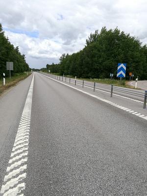 KGOIII-beläggning på E22 strax söder om Kalmar. Foto: V Lindquist.