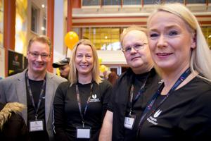 Anders Danielsson Lans, Ann-Sofie Gustafsson, Lars Fernerud och Lena Baleus från CFL Bollnäs.