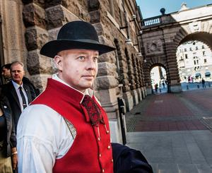 Björn Söder (SD),  andre vice talman i riksdagen, har väckt debatt och starka känslor med sitt påstående om att samer och judar inte är svenskar. Foto: Tomas Oneborg / SvD / TT