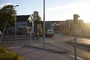Olyckan inträffade i korsningen Fridhemsgatan/Björneborgsgatan i centrala Sundsvall.