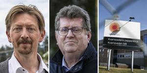 Joakim Storck (C) och Jan Bohman (S) välkomnar en etablering av Volvo och Northvolts nya batterifabrik i Kvarnsveden.