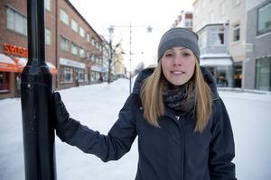 Kommunen satsar tre miljoner på gågatan och Kajsa Holmqvist förmodar att arbetena kommer i gång nu i mars eller i april.
