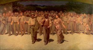 En utzoomning av Giuseppe Pellizza da Volpedos målning
