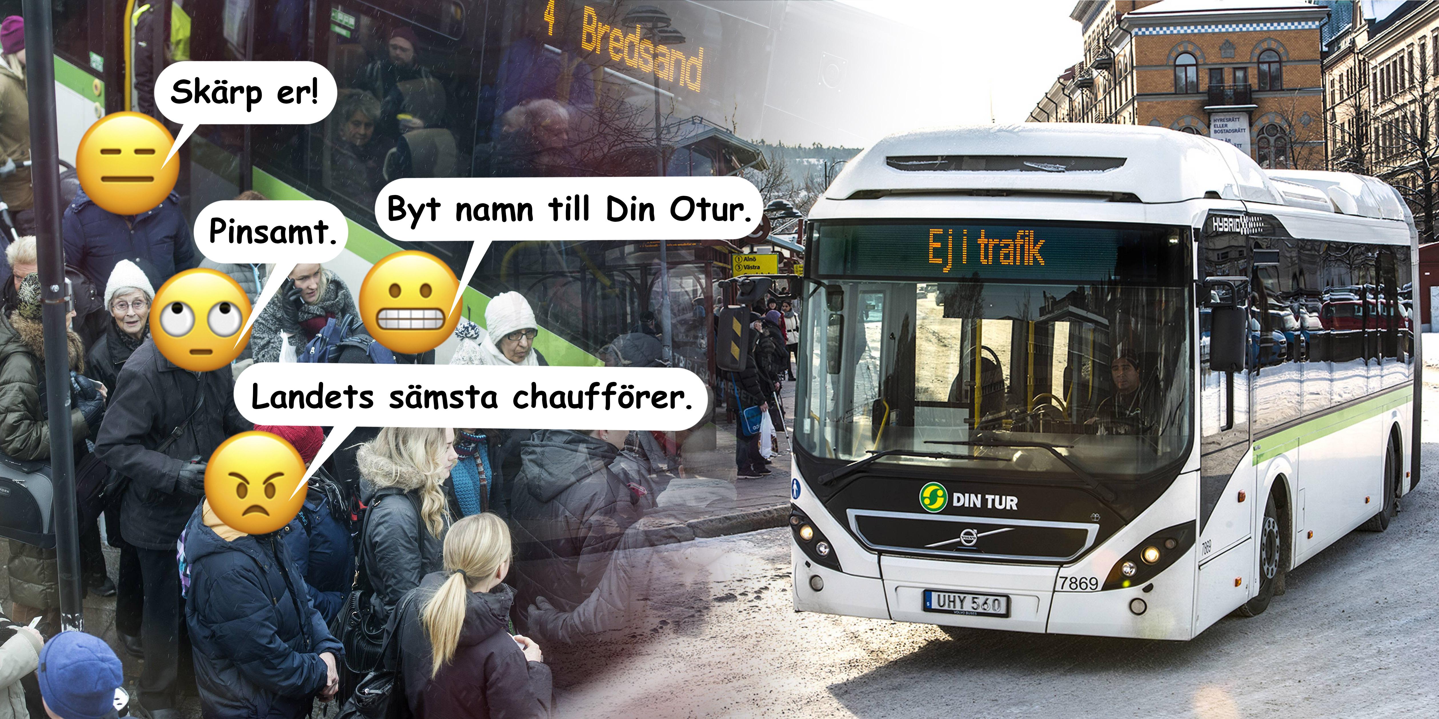 Kvinna pakord av buss tva ganger