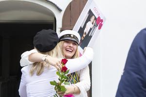 Cecilia Bergåkra var full av känslor under den efterlängtade studentdagen.