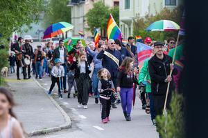 Ett hundratal besökare slöt upp i Nordanstigs första Pride.