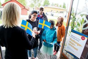 Nya medborgare fick ett varmt mottagande, med en nya ceremoni 2017.Foto: Ulf Palm, Falu kommun