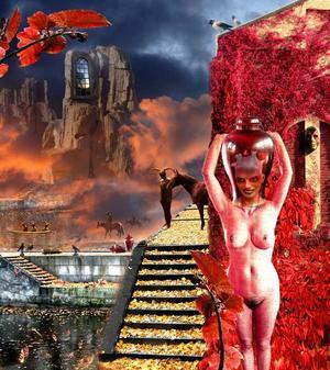 """""""Höstimpression III"""". En skyltdocka har blivit huvudperson i Liljevalls konstnärliga landskap."""