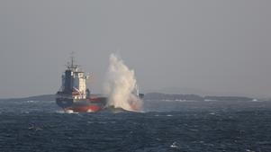 Fartyget Kertu gick på grund utanför Landsort i oktober 2014.