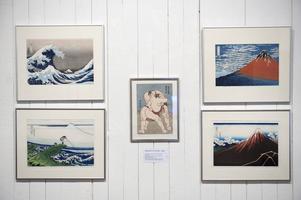 Färgträsnitt av Hokusai som levde mellan 1760 och 1849.