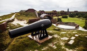Fort Jeffersons kanoner användes aldrig i krig.
