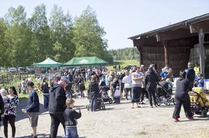 Många strosade omkring på Koldemo lantbruk i Arbrå.