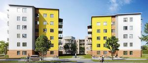 Ängstornen, nya hus på Nordanby Äng byggda av Mimer.