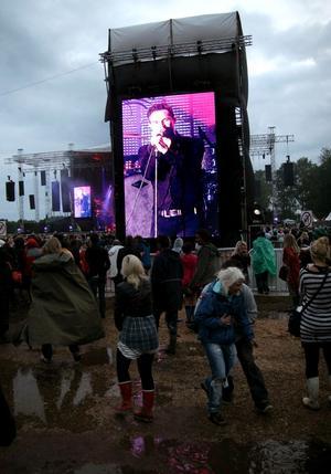 The Killers uppträdde under torsdagen på Hultsfredsfestivalen. Det rådde dock fotoförbud under konserten med bandet.