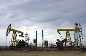 Oljefält i Baku, Azerbajdzjan: en tillgång på väg att ta slut.