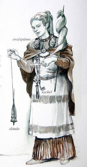 Kvinnornas klädedräkt är ganska väl känd.