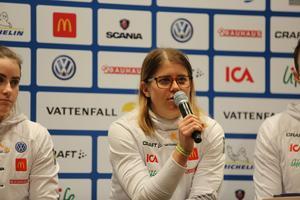 Ida Ingemarsdotter mötte pressen i Stockholm inför sitt tredje Olympiska spel.