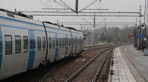 Numera trafikeras den södra delen av Nynäsbanan endast av envagnståg. En vagn av pendeltågsmodellen X60 är 107 meter lång.