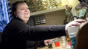 Egen verkstad. Maria Eriksson tillverkar sina smycken i hennes verkstad.