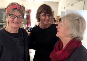 Enagerade arrangörer var Margareta Nilserud och Sonja Wahlstein. I mitten Anna Hagland från Studieförbundet Vuxenskolan.
