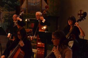 Orkestern i Kumla och Hallsberg hade för få blåsare. I Örebro var det brist på stråkar. Tillsammans är orkestern nu komplett, en fullödig symfoniorkester.BILD: SAMUEL BORG