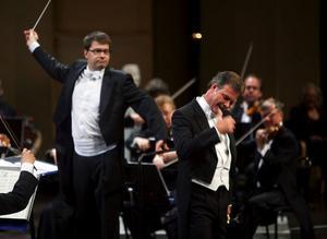 Olle Persson, baryton, stod inte bara för sång utan också för en hel del av kvällens spex.