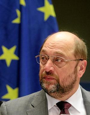 Favorit i valet. Enligt en sammanställning av opinionsmätningar i EU skulle den socialdemokratiska gruppen i EU-parlamentet bli den största. Och då pekar det mesta mot att den tyske socialdemokraten Martin Schulz blir EU-kommissionens ordförande. Arkivfoto: Yves Logghe/TT-AP