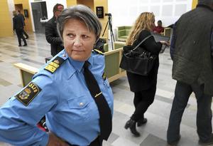Agneta Kumlin på plats vid rättegången mot Lena Tysk.