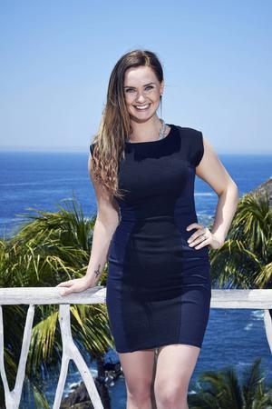Pressbild från inspelningarna i Mexico. Ulrika Forsberg är med i Paradise Hotel som sänds i tv3 under hösten.