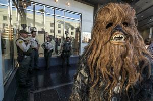 Chewbacca vägrade visa leg. Då greps han av polisen i Odessa.
