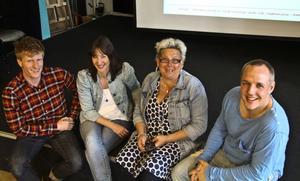 Jon-Erik Flodin, fritidsledare i Söderhamn, Jenny Elserth och Lotta Samuelsson från Fryshusets utbildningsavdelning, och Marcus Wågström, verksamhetsledare på Verkstäderna, blir inspirerade av att träffas.