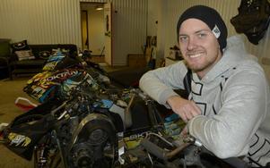 Markus Nordin, 27, tillhör eliten bland freestyleåkarna på skoter i Sverige.