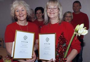 Carina Larsson, till vänster, och Irene Gustafsson prisades för sin driftighet.