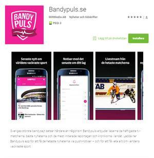 Bandypuls har varit i gång en längre tid på Facebook men nu finns servicen även direkt i telefonen. Där kan du följa Bollnäs och alla andra lag i division 1, elitserien och allsvenskan.
