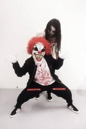 Utklädda som de värsta mardrömsfigurerna uppträdde Danchall på tävlingen Streetstar dance school challeng på dansens hus i Stockholm under helgen.