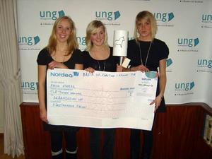 Lisa Törnblom, Sara Thungström och Mathilda Lund har utsetts till bästa UF-företag i Falun 2006/2007.