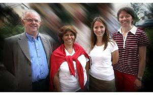 Katarina Gustavsson, tvåa fr v, fick flest personkryss i KD och en plats i fullmäktige. Men Ingrid Näsman  t h blir ny gruppledare och företrädare i kommunstyrelsen trots att hon förlorade sin ordinarie plats i fullmäktige i valet. Ulrika Westin bredvid b