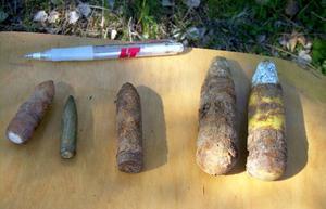 Den här typen av granater hittas överallt på Bynäset där målområdet rensas under två veckor.