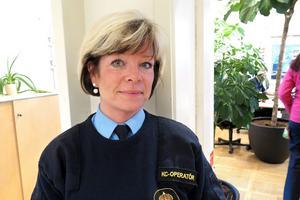 ARKIVBILD. Mona Litzell är sedan slutet av maj larmoperatör på polisens regionledningscentral i Umeå.