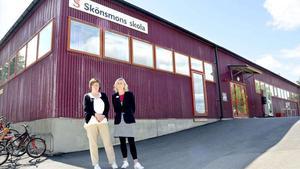 Yvonne Sahlen, biträdande rektor, och Johanna Örnehag, rektor på Skönsmons skola.