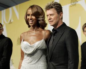 David Bowie och hans fru Iman.