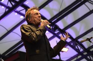 Rikard Wolff vid en minneskonserten för Anna Lindh i Kungsträdgården 2013.