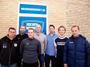 Elitsatsningen på hockey och tennis är viktig för kommunen tycker Lars Bergman, Örjan Jansson, Lars Wahlgren, Tomas Pitkänen, Anders Sahlén, Filip Svelander och Richard Hansson.