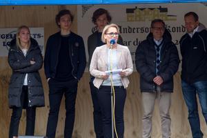 Kristina Leijonhufvud talade under invigningen. Även Lotta Gröning, Åsa Eriksson (S), kommunalråd i Norberg och Minoo Akhtarzand, landshövding, talade.